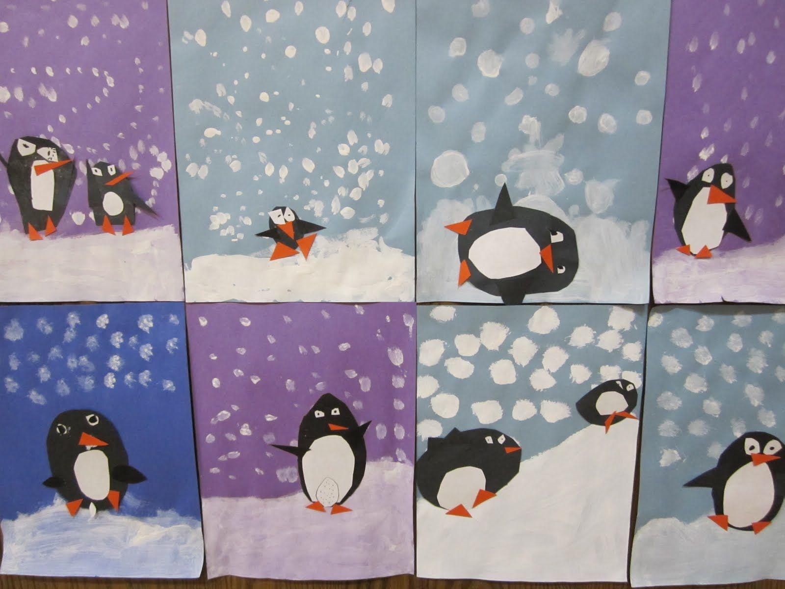 Art At East 1st Grade Winter Art