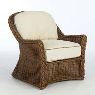 N Dura Resin Wicker Euro Dining Chair Pecan Finish Sedona Collection