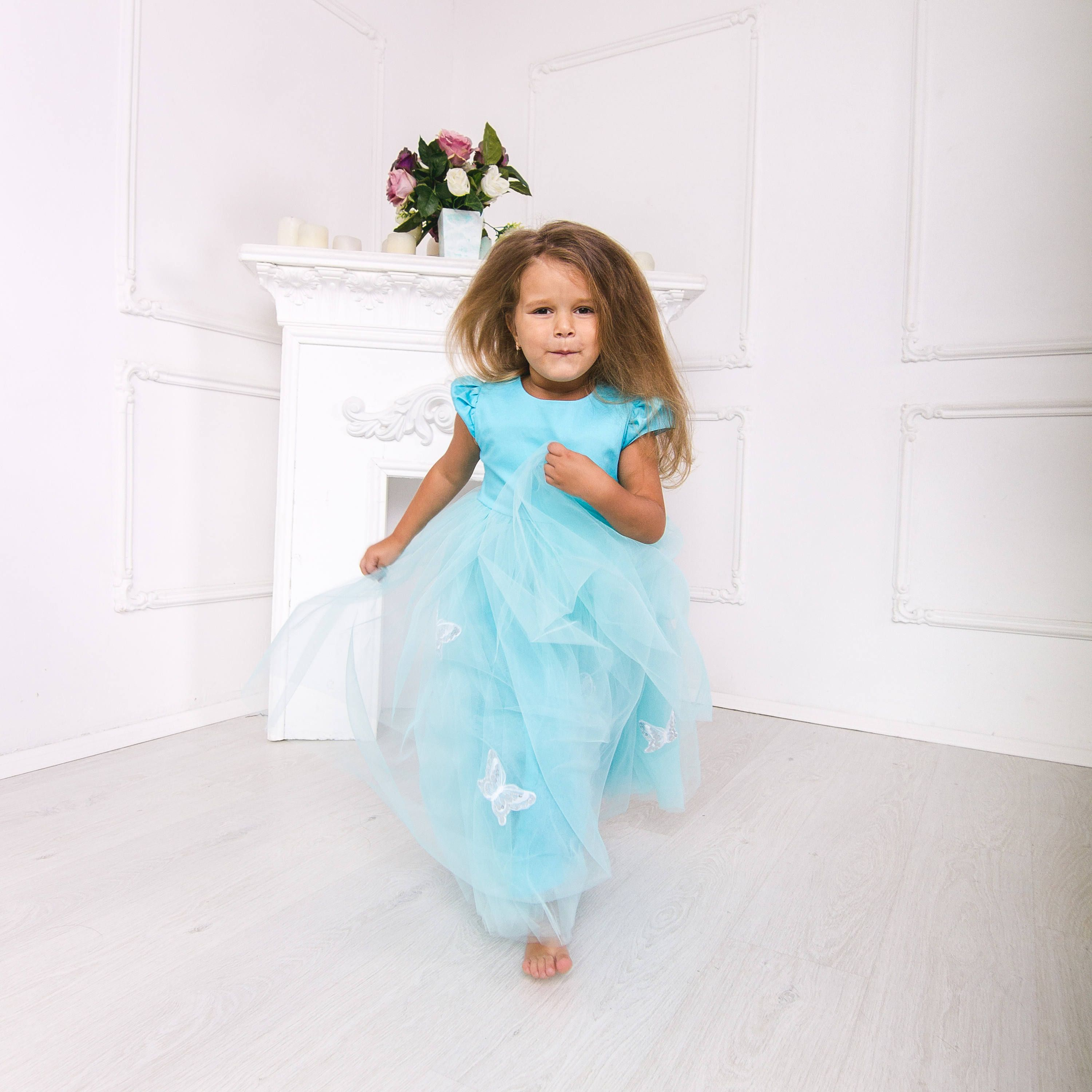 dress with butterfly baby girl first birthday outfits baby first ...