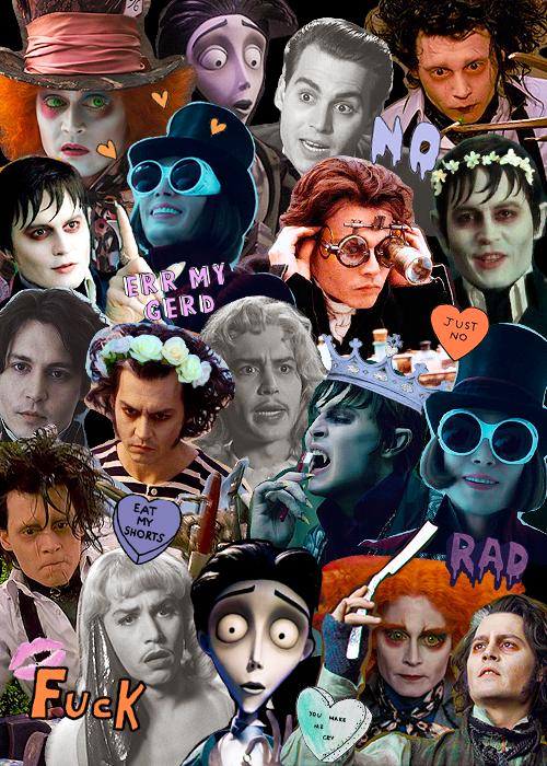 Imagen De Johnny Depp Collage And Background Johnny Depp Wallpaper Johnny Depp Characters Johnny Depp Tattoos