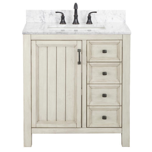 Foremost Hiland 30 W X 21 1 2 D Antique White Bathroom Vanity Cabinet White Vanity Bathroom White Bathroom Cabinets Bathroom Vanity Cabinets 30 x 21 bathroom vanity