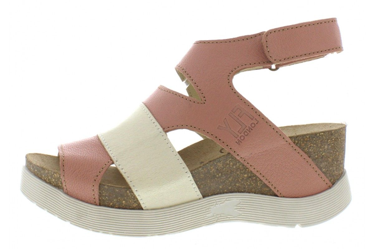 77ee0e7e79f4b1 Fly London Wimi Rose Off White Wedge Sandals