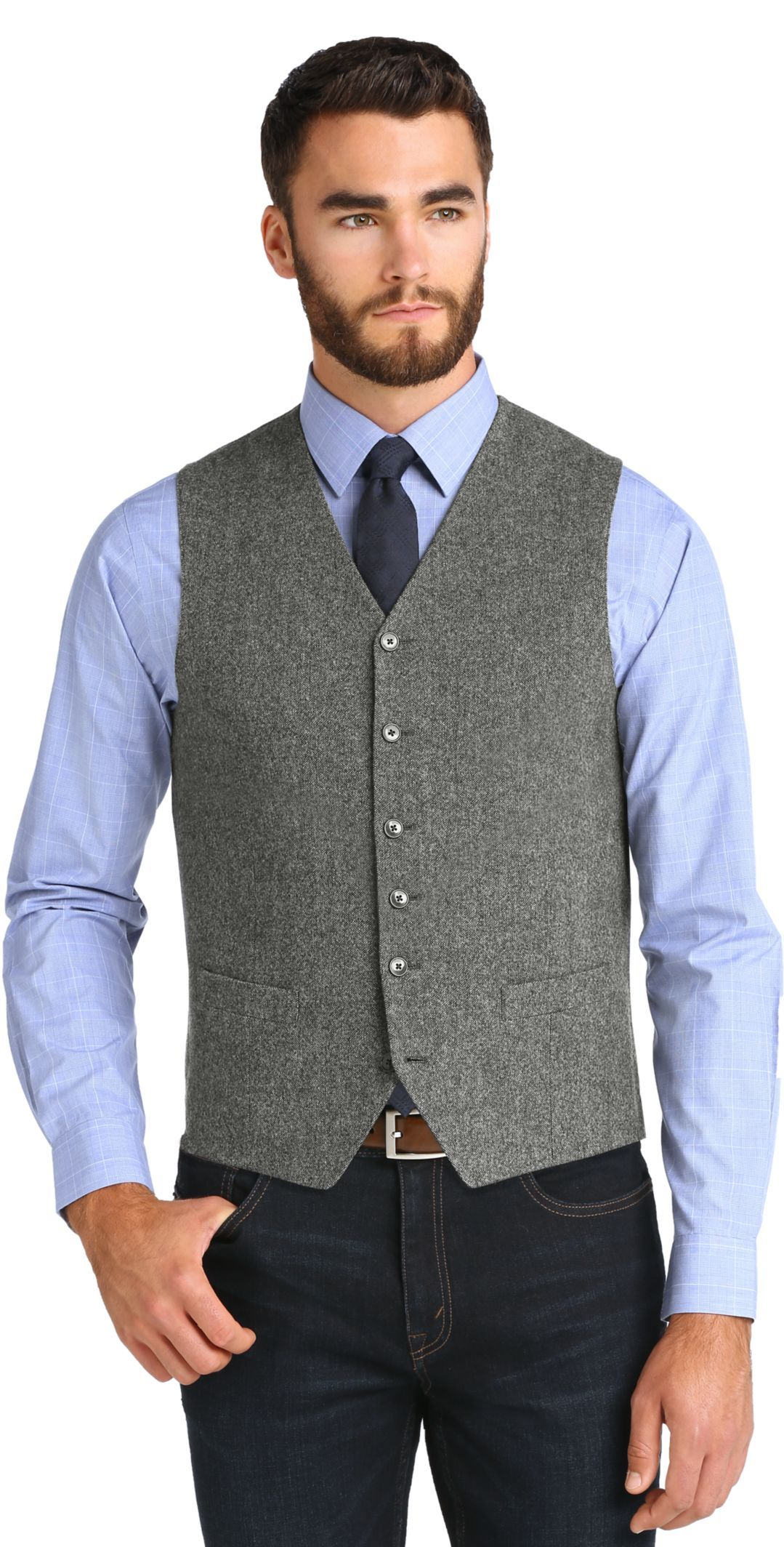 abab9662 1905 Collection Tailored Fit Vest - Big & Tall CLEARANCE in 2019 ...