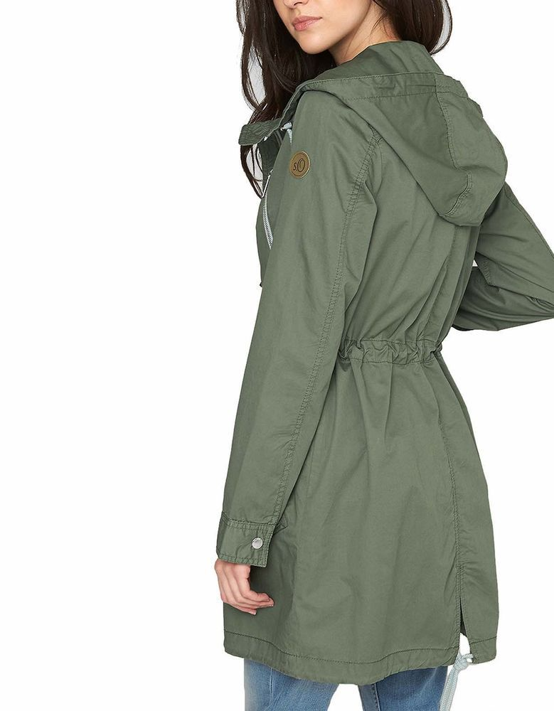 s oliver damen parka sommerparka jacke mantel forrest green neu ebay world. Black Bedroom Furniture Sets. Home Design Ideas