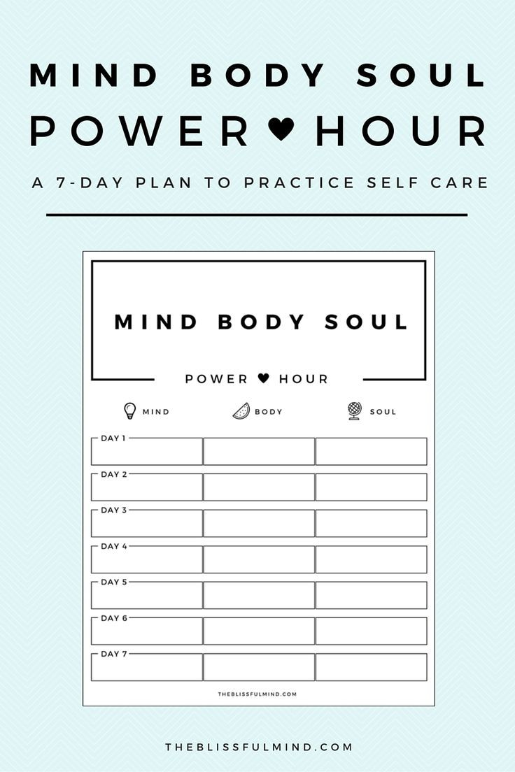 Worksheets Self Improvement Worksheets how to start a self care routine using the power hour method free blissful mind