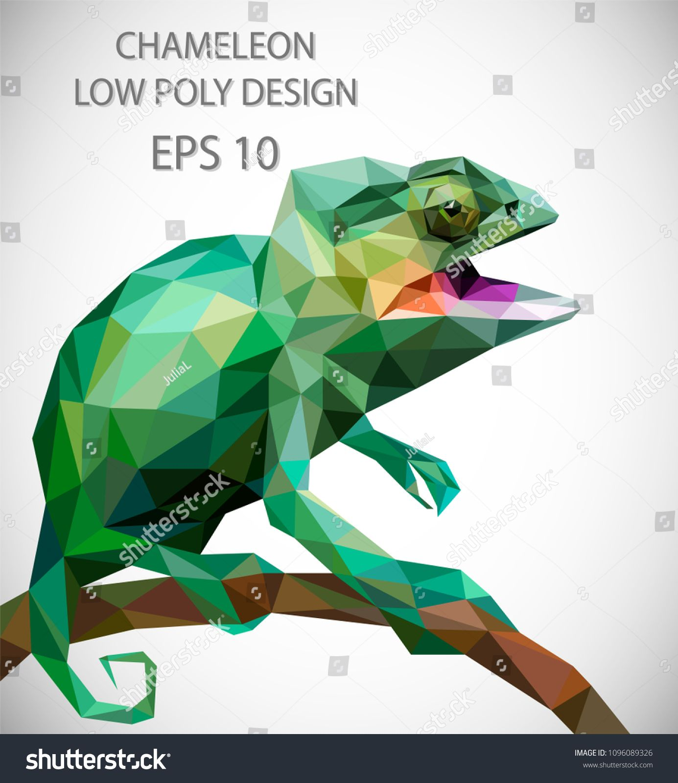 Chameleon Style Vector Design Of Chameleon In Low Poly Style Design Vector