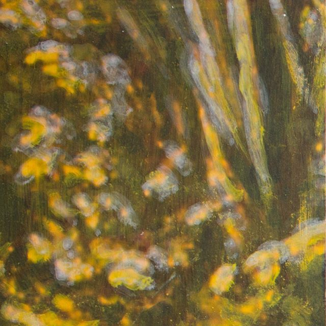 """Panel 06 - the forest is often a part of my works. This mixed media work (print and acryl) is a detail of Albrecht Altdorfer """"Saint George and the dragon"""". The whole thing is made of 6x4 panels - but i like the details so i post 6 of them in closeup.  #contemporyart #art #painting #albrechtaltdorfer #mixedmedia #acryl"""