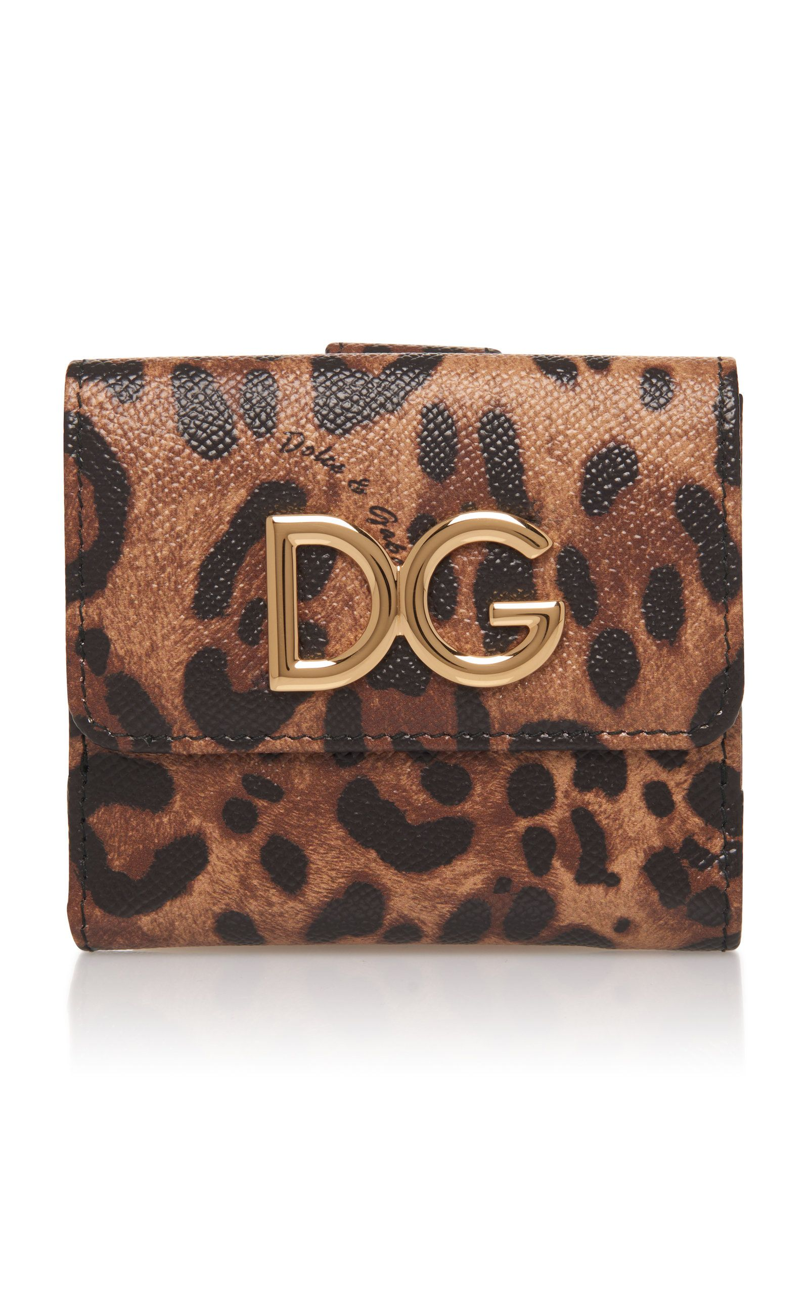 ce5c187176 Leopard-Print Textured-Leather Wallet by DOLCE & GABBANA Now Available on  Moda Operandi