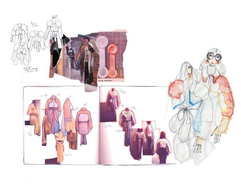 ILLUSTRATION    Fashion Sketchbook - graduate collection, fashion design development with research, sketches and draping experiments; fashion portfolio // Sofia Ilmonen