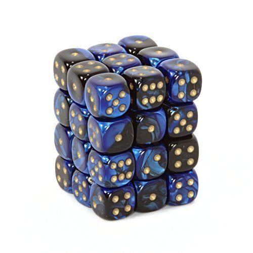 Dice /& Games Marble 36 x 12mm D6 Blue D/&D RPG