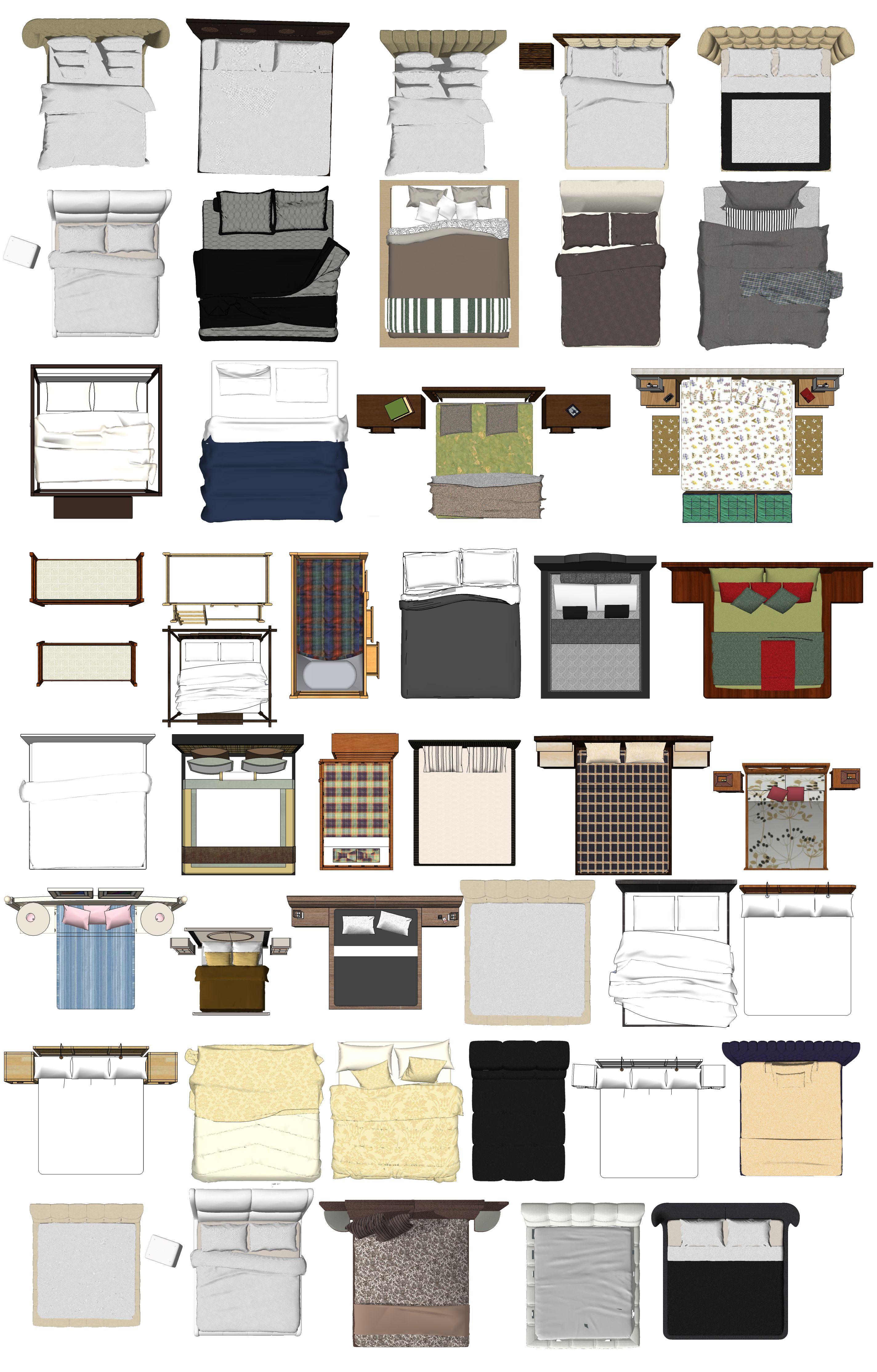 Bed blocks 2 arredi in pianta planimetrie di case for Progettazione mobili 3d