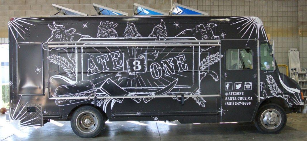 Ate3one food truck wrap food truck food trailer trucks