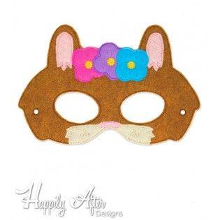 Girl Bunny ITH Mask Embroidery Design