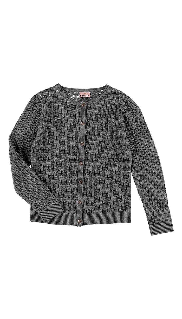 Diamante CARDIGAN, Grey - POMPdeLUX