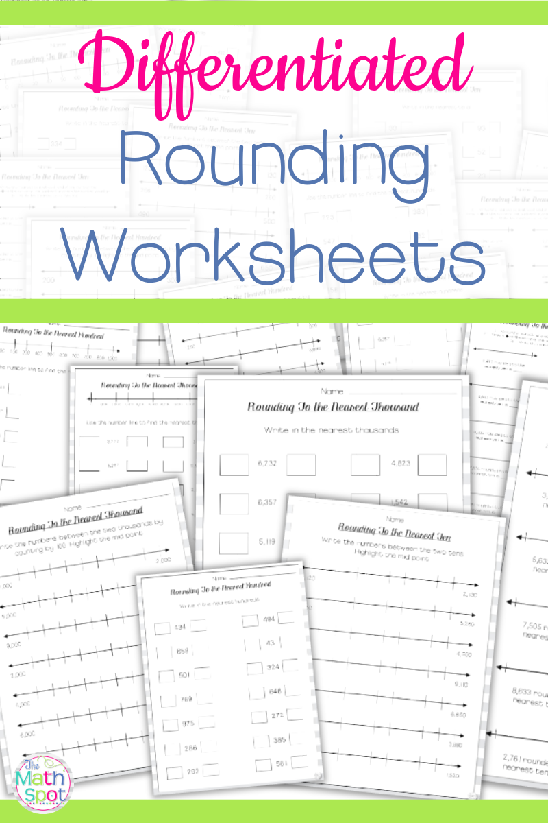 small resolution of These rounding worksheets reinforce rounding to the nearest 10