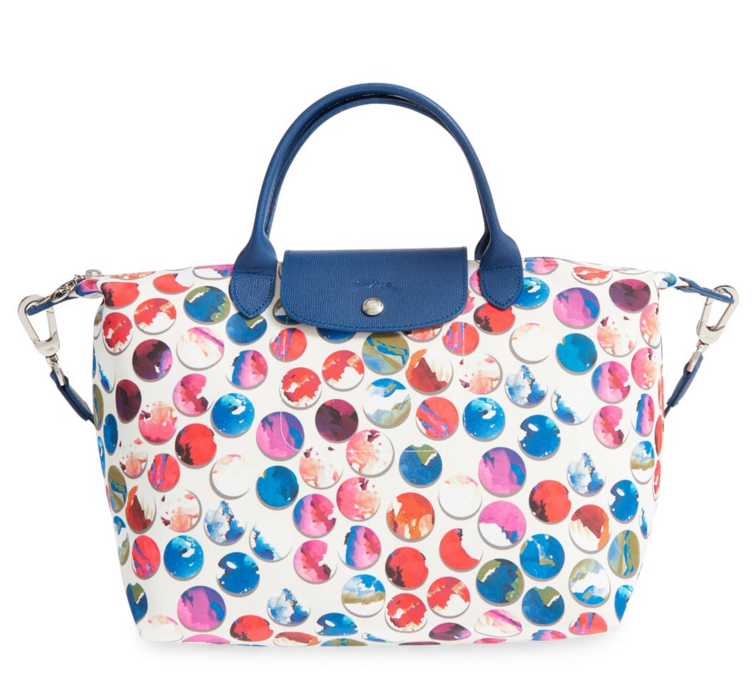 longchamp multi color tote