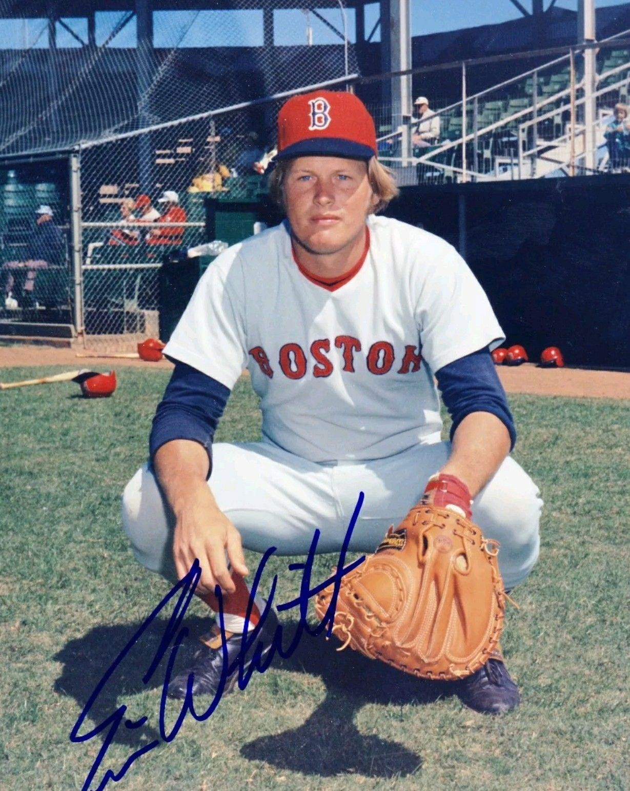 Ernie Whitt With The Red Sox Boston Red Sox Red Sox Red