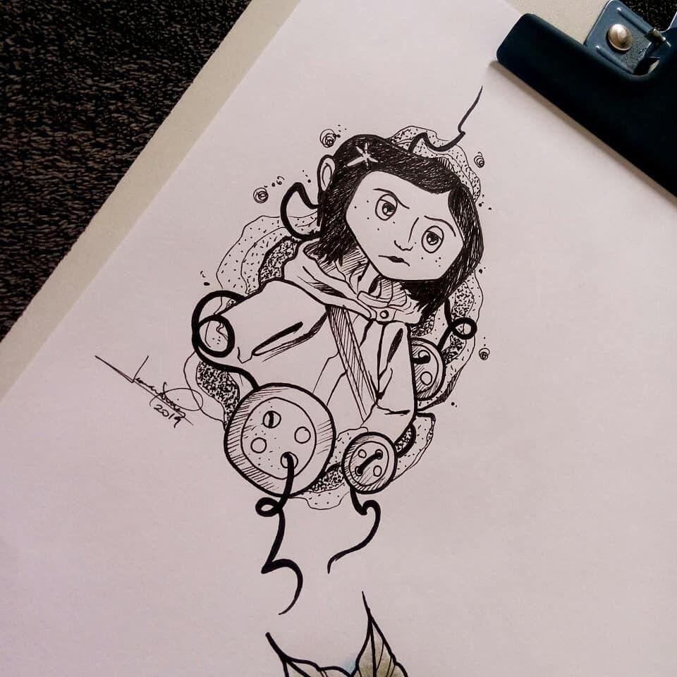 Pin By Ashdog On Tattoos In 2020 Coraline Tattoo Tim Burton Tattoo First Tattoo