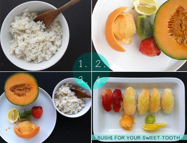 dessert sushi in four easy steps
