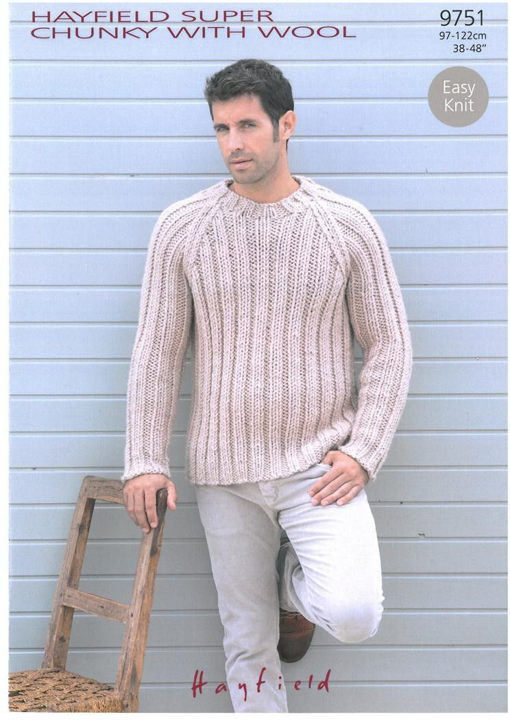 Sweater In Hayfield Super Chunky With Wool Patterns Knit
