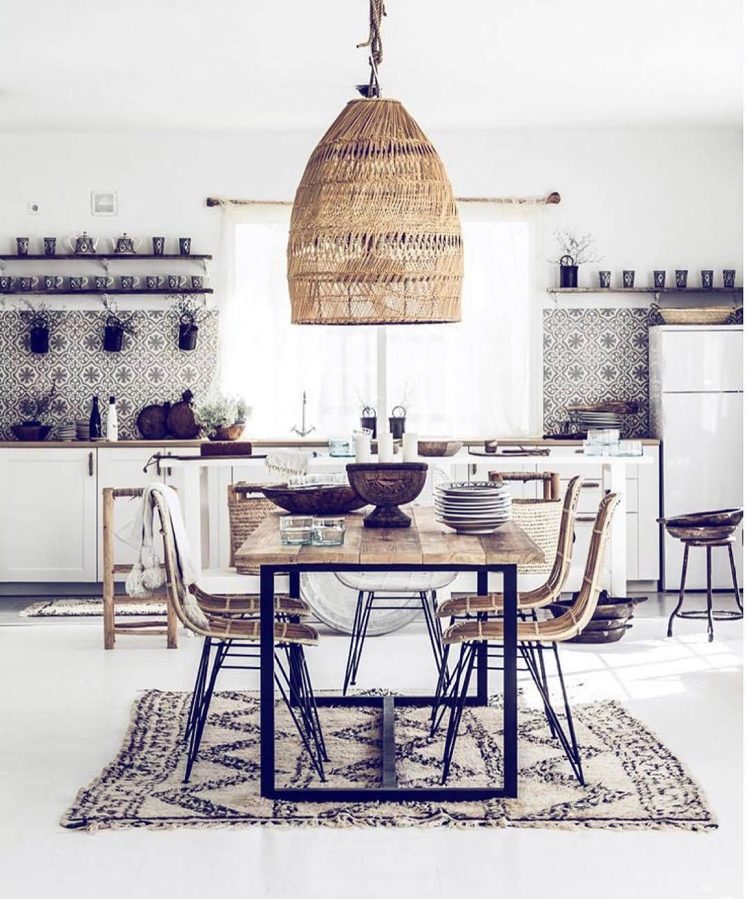 Deko Modern Interior Trend Boho Deko Home Inspo Bohemian Kitchen Kitchen