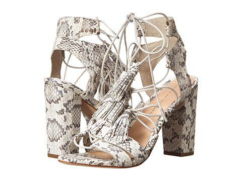 Loeffler Randall Luz Cream Grey Snake - Zappos Couture ...