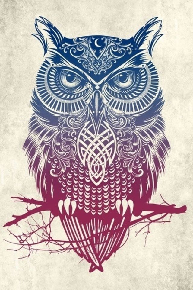 Tribal Owl Wallpaper By Telephonewallpaper Com Owl