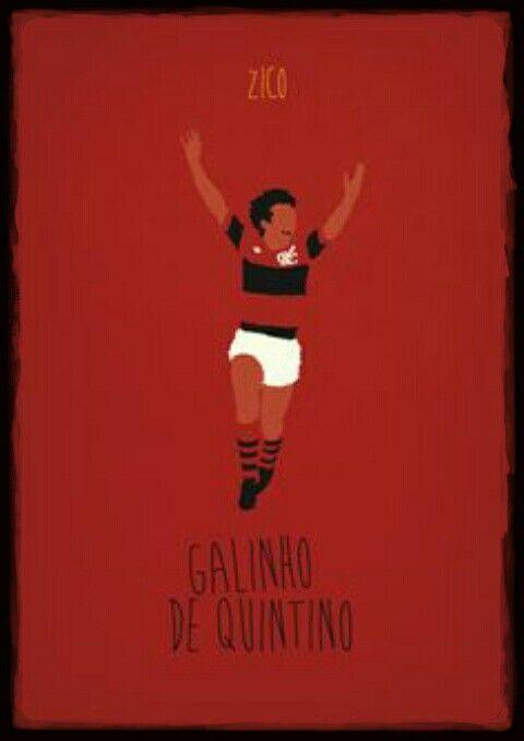 Zico Of Flamengo Wallpaper Cartaz De Futebol Zico Flamengo Flamengo
