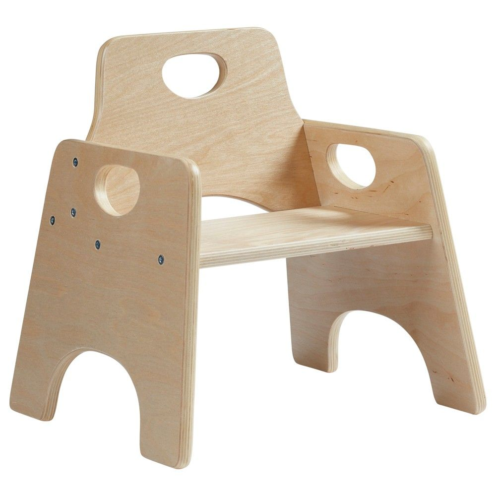 Ecr4kids Stackable Hardwood Chair For Toddlers Wooden Seats For