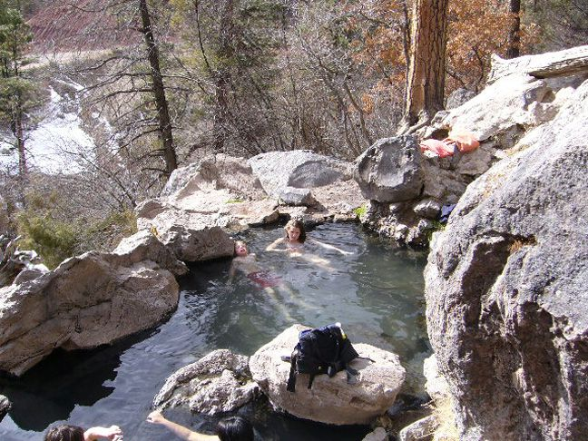 Nothing more relaxing than natural hot springs! Jemez NM