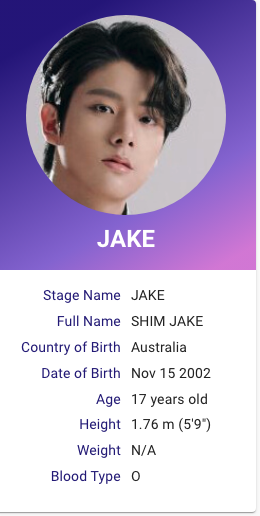 I Land Shim Jake Kpop Profiles In 2020 My Land Kpop Profiles Fun Facts