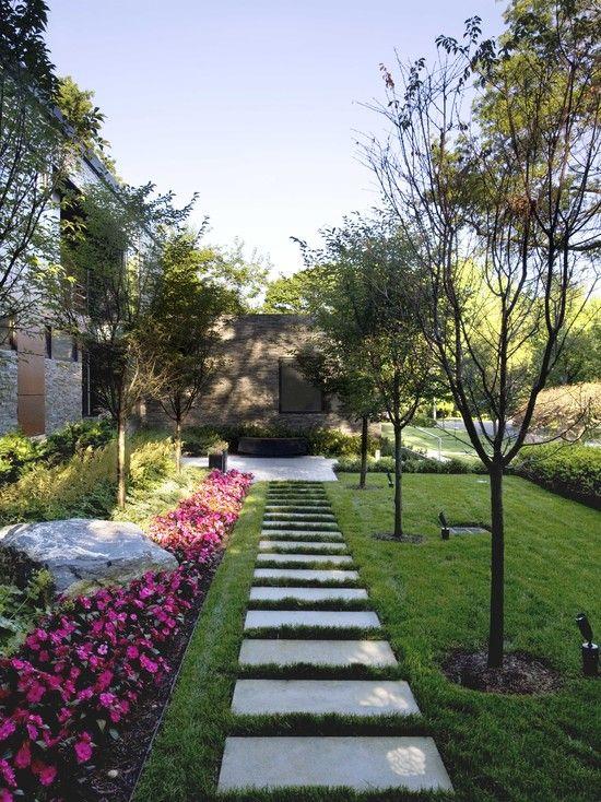Petit Chemin Jardin Dalle Deco Exterieur Architecture