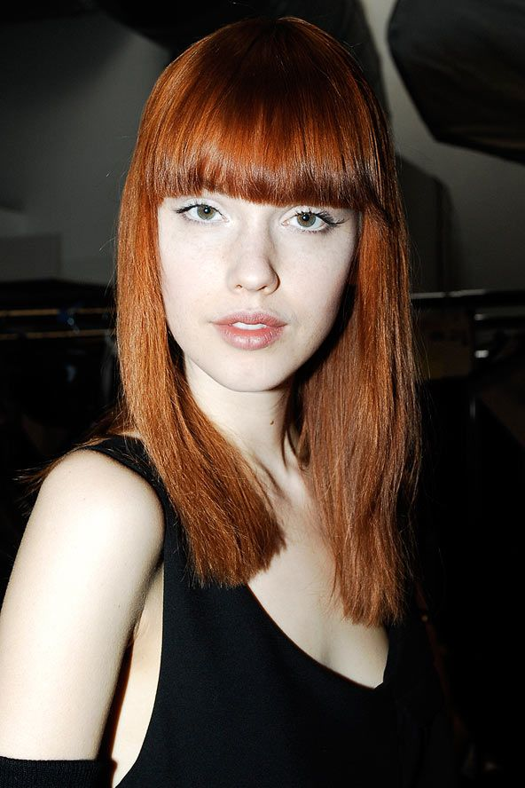 red hair fringe bangs fringes