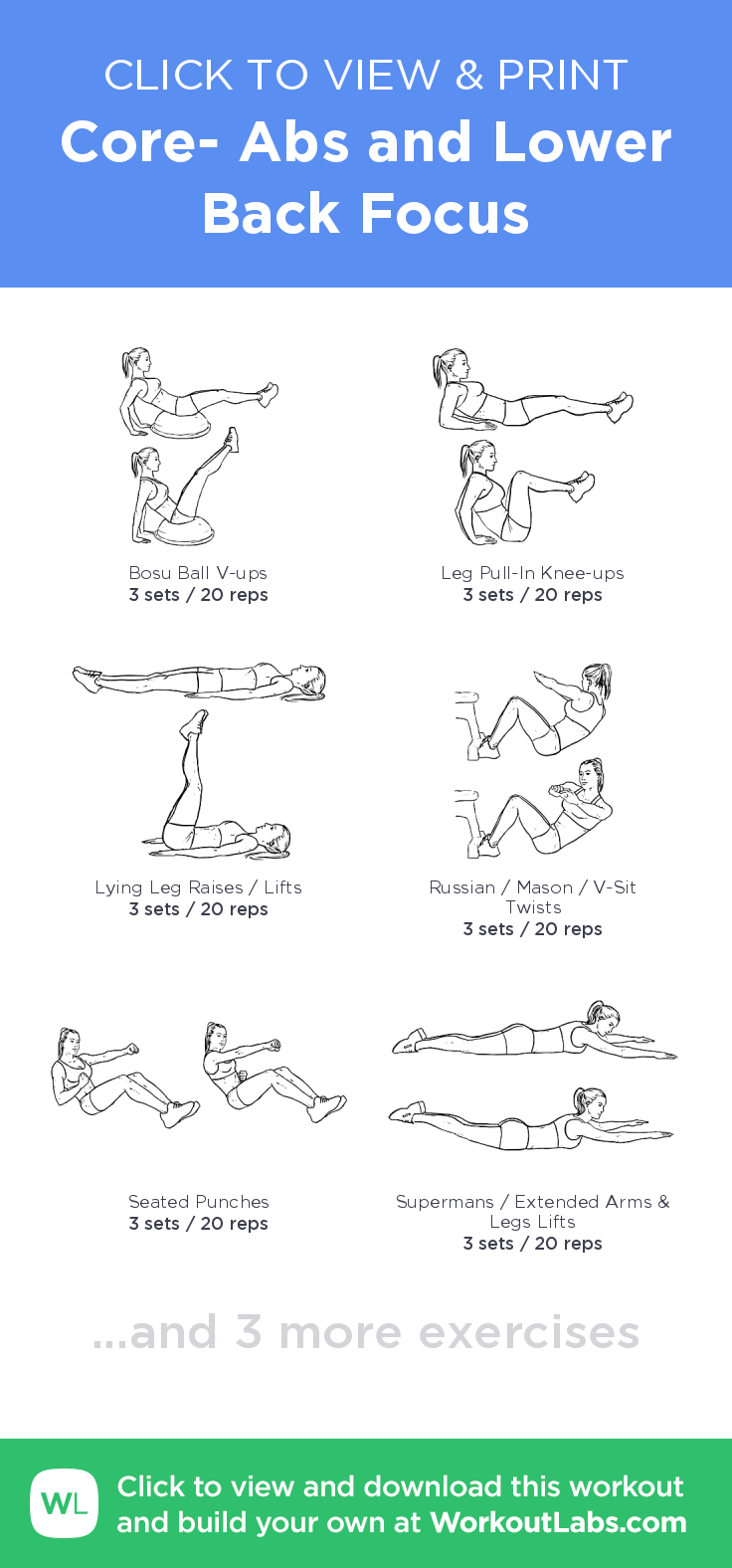 Core- Abs and Lower Back Focus – click to view and print ...