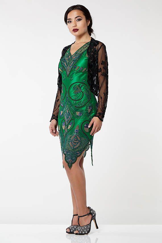 Plus Size Black Vintage 20s Inspired Tess Flapper Wedding Jacket