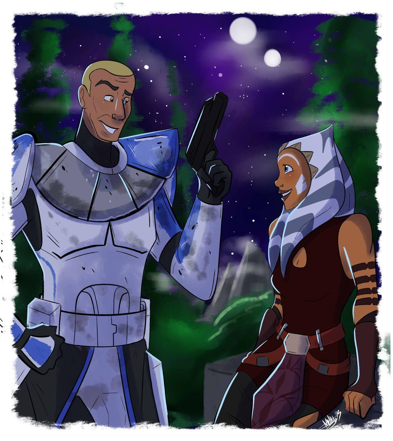 Ahsoka and Rex Star wars clone wars, Star wars ahsoka