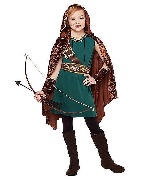 Kids Robin Hood Costume Spirithalloween Com Robin Hood Costume Girl Archer Costume Huntress Costume