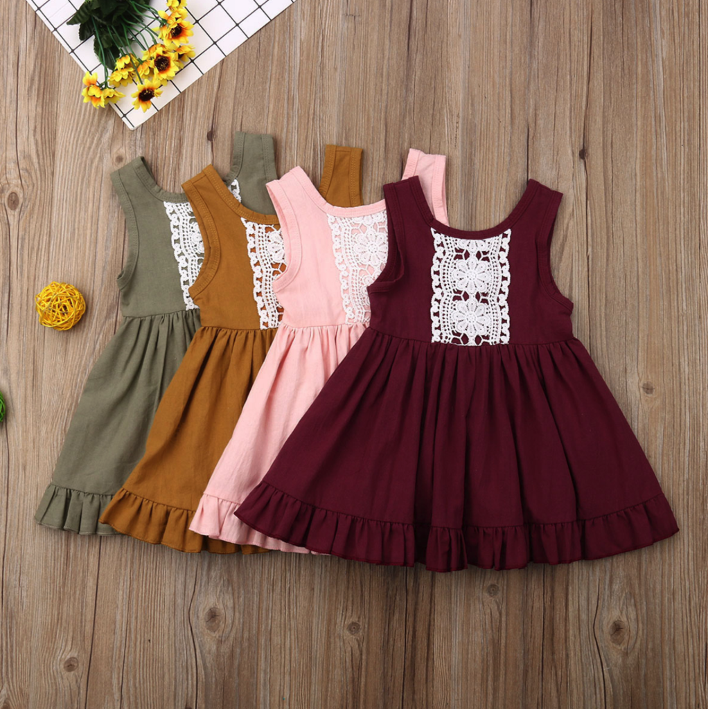Amelia Lace Summer Dress  Toddler girl dresses, Girls frock