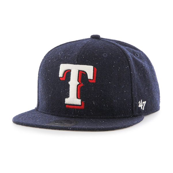 wholesale dealer 74e2b 2cc4d Texas Rangers Hail Storm Captain Navy 47 Brand Adjustable Hat