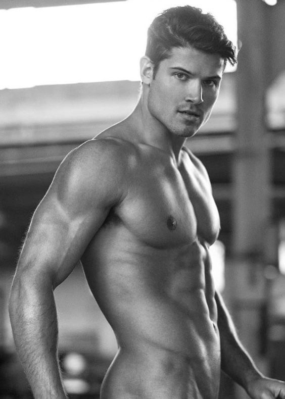 Good looking man naked