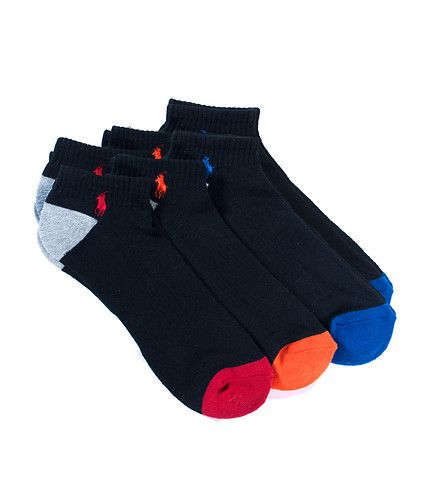 POLO+6+pack+Stretch+ped+socks+Different+colored+accents+Layered+padding+for+comfort