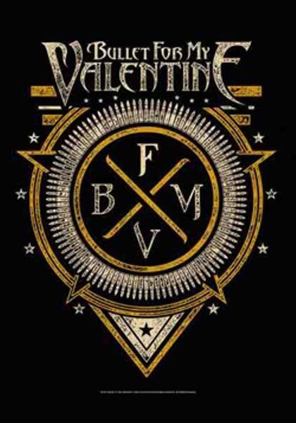 Bullet For My Valentine Poster Flag Bfmv Emblem Bullet For My Valentine Valentine Poster Metal Posters Art