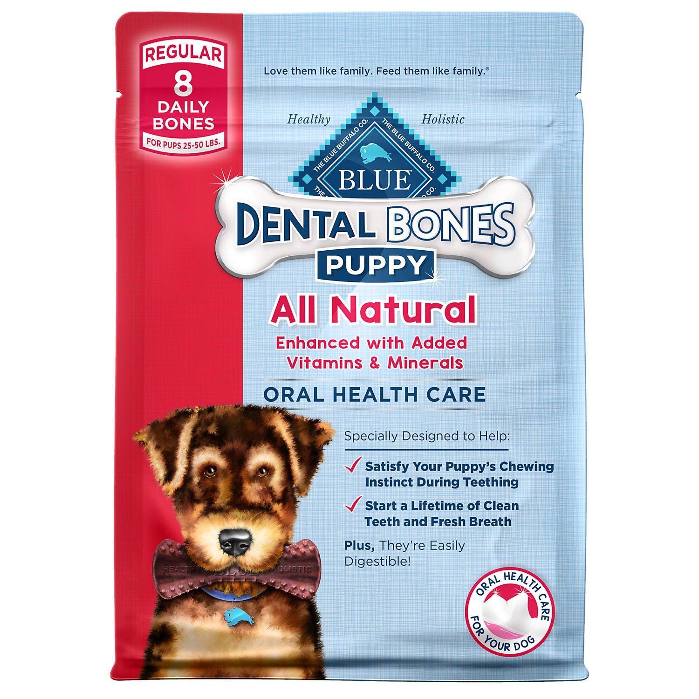 Blue Buffalo Blue Dental Bones Puppy Dog Treats 12 Oz Mini
