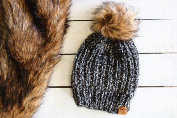51b6d69ef05 Anchorage Ice Ryder Hat with Faux Fur - Pompom Winter Hat - Accessories -  Hat with Furry Pom - Adult