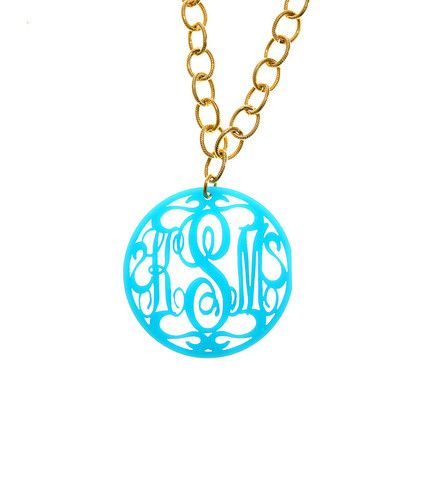 Moon & Lola Rimmed Script Necklace M0egZUENG