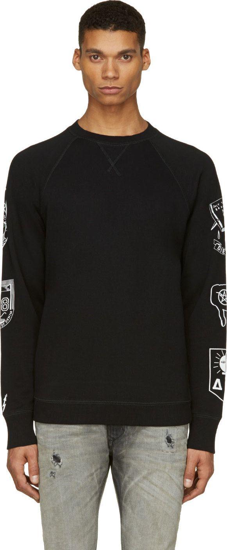 Diesel / Black & White S-Hun Sweatshirt
