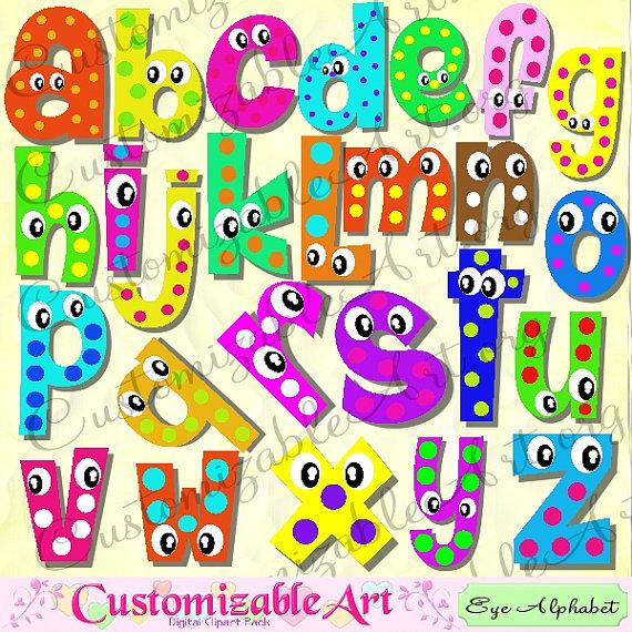 Digital Fun Alphabets Clipart Cute Digital Letters of the ... Cute Alphabets