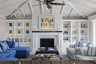 Florida Beach Cottage - beach style - living room - other metro - by Village Architects AIA, Inc.