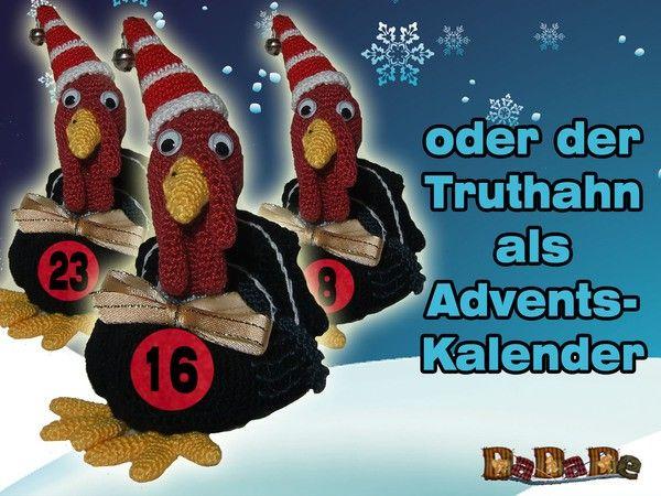 Der gehäkelte Truthahn als Geschenkverpackung oder Adventskalender ...