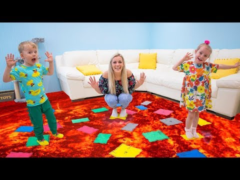 Gaby And Alex Play The Floor Is Lava Youtube In 2020 Alex Plays The Floor Is Lava Imaginative Play Toys